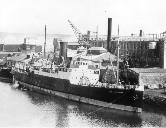 SS Kilkenny at Drogheda Port south quays